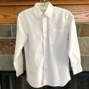 NORDSTROM Dress Shirt, White Thick Cotton, Size 12